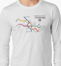 Neighborhoods & Squares of Cambridge Long Sleeve T-Shirt