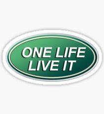 One Life Live It Land Rover Defender Dakar Sticker
