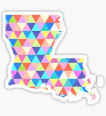 Louisiana Colorful Hipster Geometric Triangles New Orleans Sticker