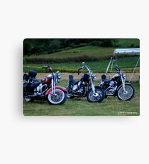 A life of memories of a Harley Rider Canvas Print