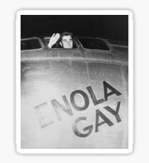 Paul Tibbets In The Enola Gay Bomber Sticker