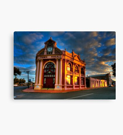 York Town Hall at sunset Canvas Print