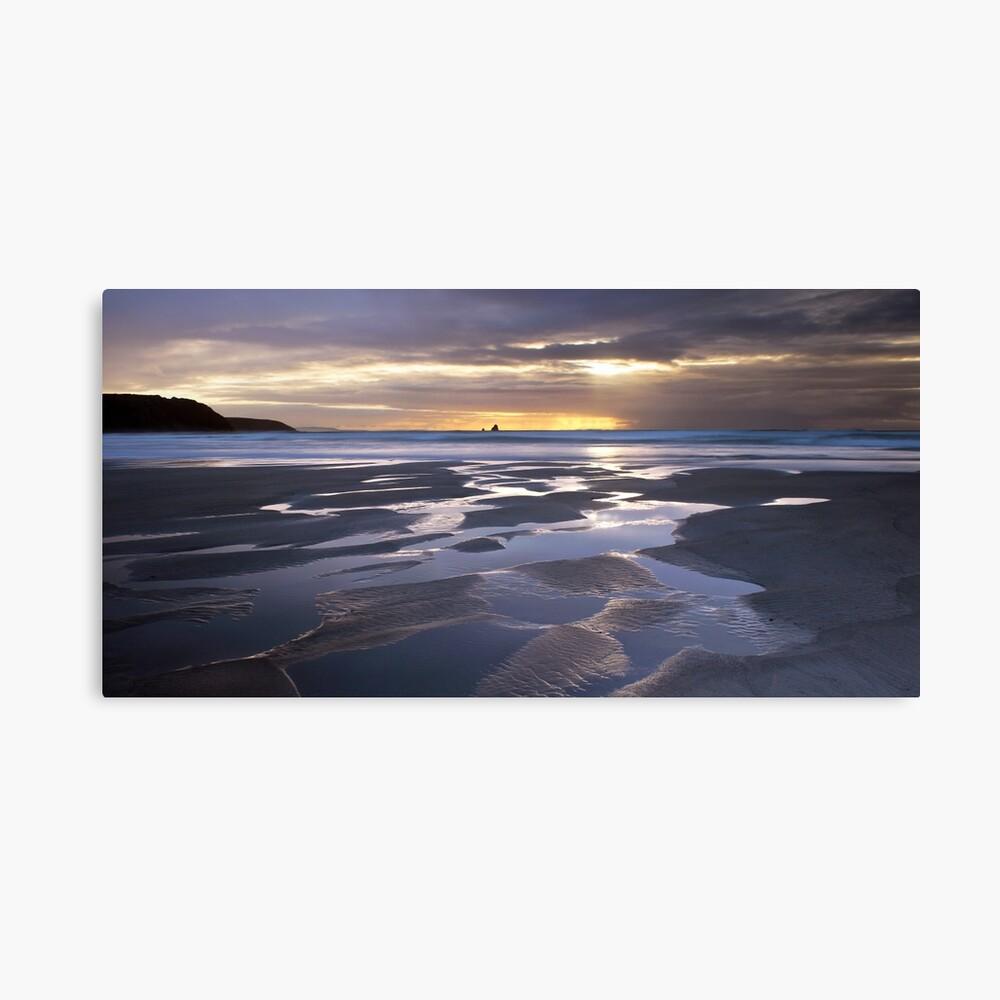 Sunset at Perranporth Beach Canvas Print