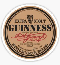 Old Style Guinness Logo - David Gilmour Sticker