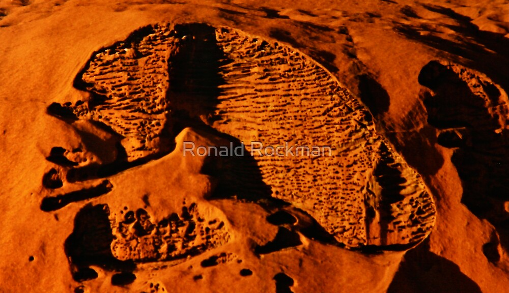 Texture On The Side Of Uluru by Ronald Rockman