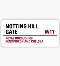 Notting Hill Gate London Road Sign Sticker
