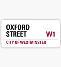 Oxford Street London Road Sign Sticker