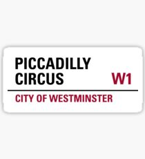 Piccadilly Circus London Road Sign Sticker