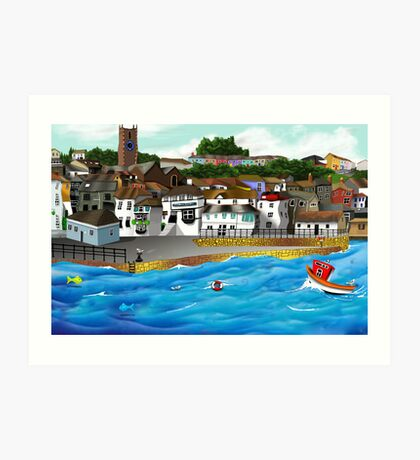 Cornish Harbour Art Print