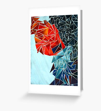Anger Sadness Abstract Greeting Card