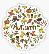 Bright autumn Sticker