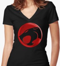 AVAILABLE SIZES S TO XXL, THUNDERCATS (BLACK)! Mens funny t-shirt Women's Fitted V-Neck T-Shirt