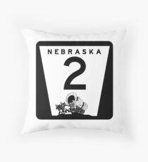 Highway 2, Nebraska Throw Pillow