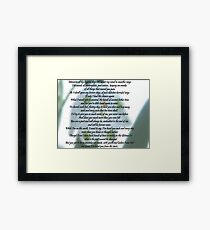 """MEMORIES"" Was written by me for my Children. Framed Print"