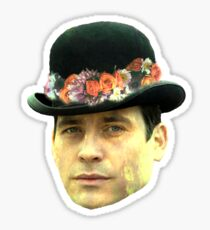 Thomas Barrow Flower Crown Sticker