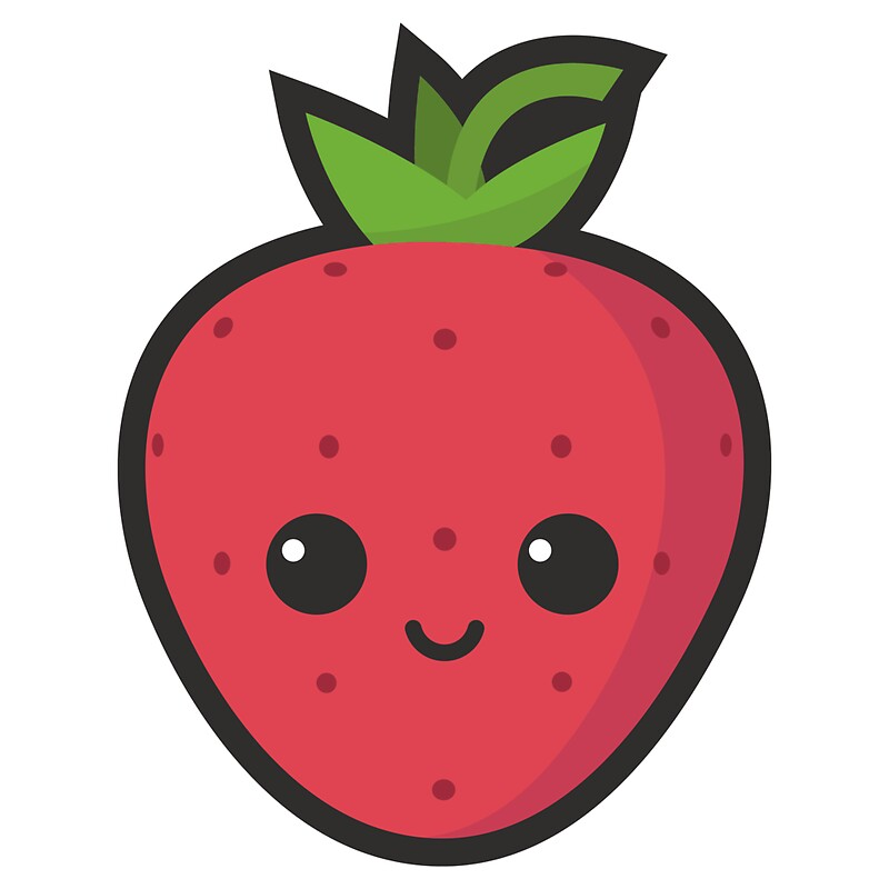 15867546 Cute Strawberry P Sticker