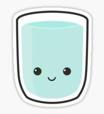 Cute Glass Of Water Sticker