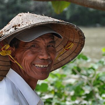 Smiling Vietnamese Farmer by lcarse