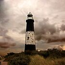 The Old Lighthouse - Spurn Point. by Trevor Kersley