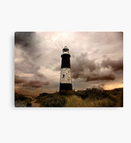 The Old Lighthouse - Spurn Point. Canvas Print
