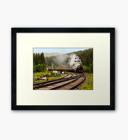 The Train Arriving Framed Print