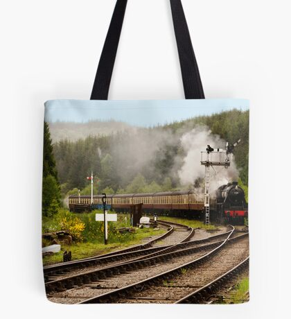 The Train Arriving Tote Bag