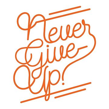 NEVER GIVE UP! by lefrick