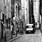 Hosier Lane in B/W by Trish Woodford