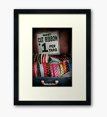 Sewing - Ribbon by the yard Framed Print