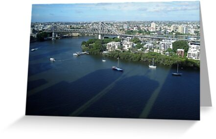 Story Bridge and its surroundings by STHogan