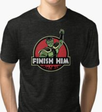 Finish Him Tri-blend T-Shirt