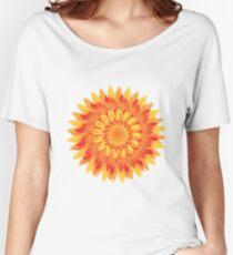 Firery Dahlia Women's Relaxed Fit T-Shirt