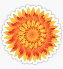 Firery Dahlia Sticker