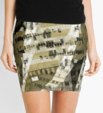 Abstract city buildings Mini Skirt