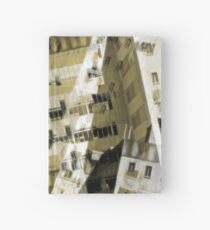 Abstract city buildings Hardcover Journal