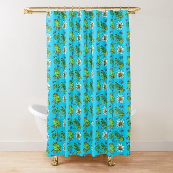 Happy pond Shower Curtain