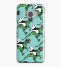 Jurassic Panda logo print blue Samsung Galaxy Case/Skin