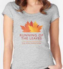 Running of the Leaves Women's Fitted Scoop T-Shirt