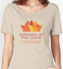 Running of the Leaves Women's Relaxed Fit T-Shirt