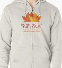 Running of the Leaves Zipped Hoodie