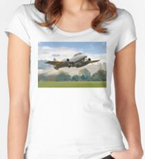 Meteor T.7 debut take-off Women's Fitted Scoop T-Shirt
