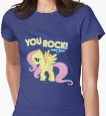 Fluttershy You rock Women's Fitted T-Shirt