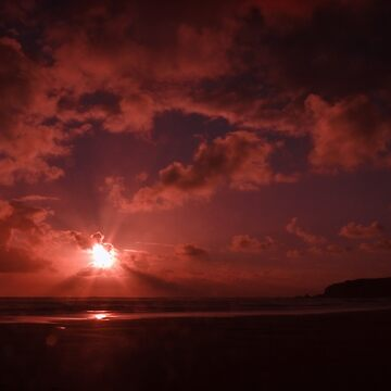 Bedruthan Sunset,North Cornwall by lucylucy