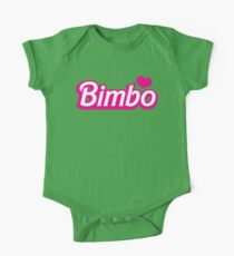 Bimbo in cute little dolly doll font Kids Clothes