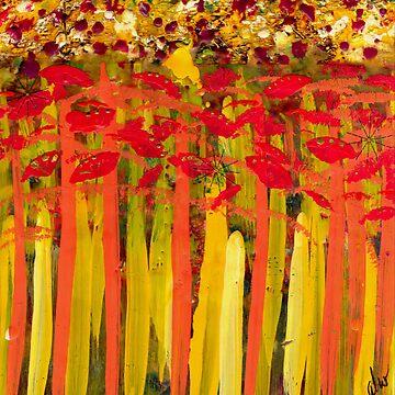 Field of Flowers by alwfineart