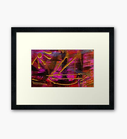 Magenta Joy Sails Framed Print