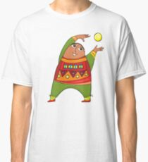 cheerful man with a ball Classic T-Shirt