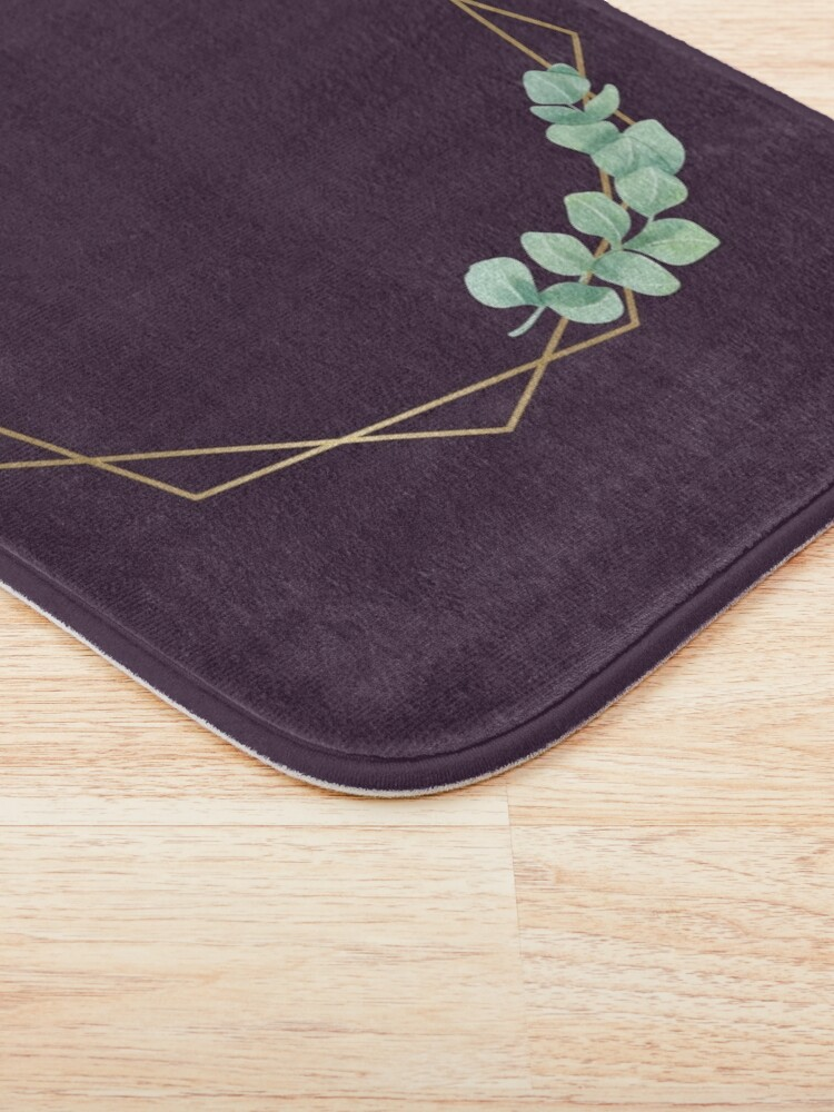 Alternate view of Gold shape with leaves Bath Mat