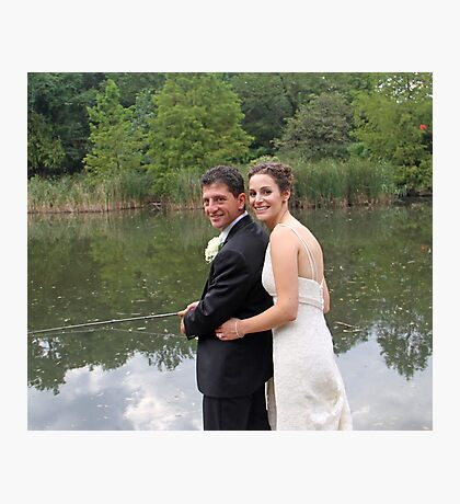 A wedding in central park!(What a catch!) Photographic Print