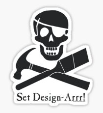Set Design-Arrr! Black Design Sticker